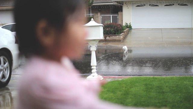 İlk Defa Yağmur Gören Çocuğun Mutluluğu