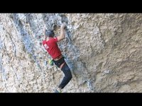 "[Neil Gresham climbing ""Welcome to Tijuana"" Rodellar, Spain December 2013]"