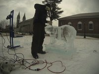 Bowdoin in Motion: 2014 Winter Weekend Ice Sculpture