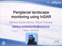Frostbyte M. Eckerstorfer: Periglacial landscape monitoring using InSAR