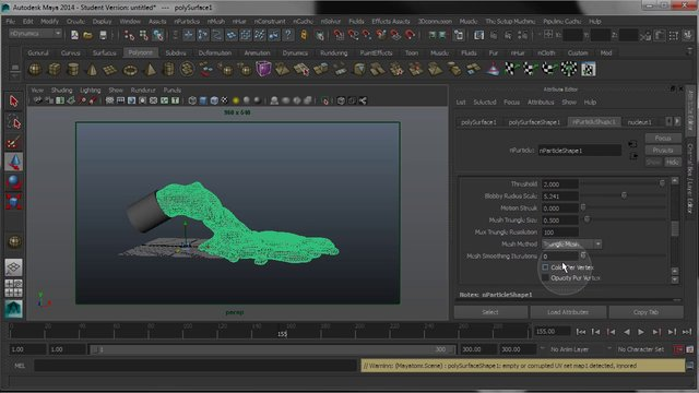 how to change amount of maya nparticles