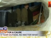 Sleeping in the Snow for a Cause