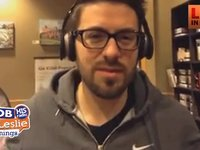 Danny Gokey Downtown interviews people at Starbucks
