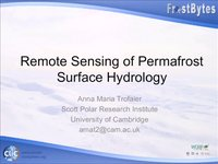 Frostbyte A Trofaier: Remote Sensing of permatfrost surface hydrology