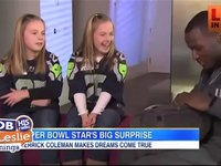 Derrik Coleman Surprises a PairGirls with Superbowl Tickets