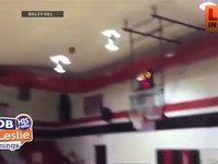 A College Cheerleader Sinks a Basket in a Very Special Way
