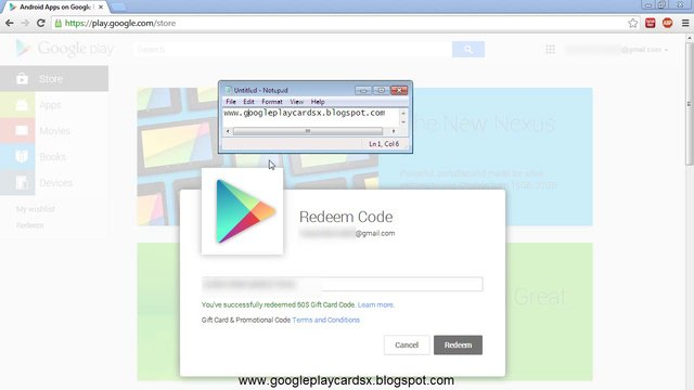 No Survey] Google Play Gift Card Code Generator 2014 [Proof]