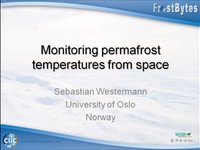 Frostbyte S Westermann: Monitoring permafrost temperatures from space
