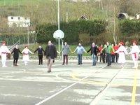 Idiazabalgo agintarien sokadantza San Blas egunean
