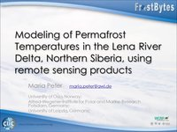 Frostbyte M Peter: Modeling of permafrost temperatures in the Lena River Delta, northen Siberia, using remote sensing products