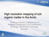 FrostByte M Siewert: High resolution mapping of soil organic carbon