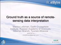 Frostbyte M. Leibman: Ground truth as a source of remote sensing data interpretation