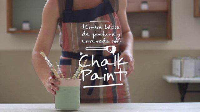 T cnica b sica de pintura y encerado con chalk paint con - Crea decora y recicla ...