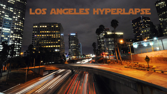 Los Angeles Night Life Hyperlapse / Timelapse