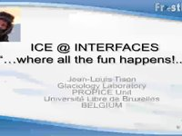 Frostbyte JL Tison: Ice @ interfaces ... where all the fun happens!