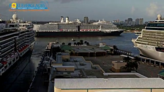 Busy Sail Away at Port Everglades