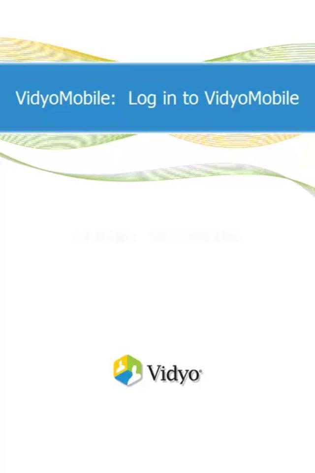 VidyoMobile にログインする