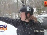 Jon Melson Skiing in this Snow