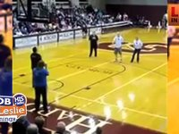 A Blind man Makes a 3 Point Shot