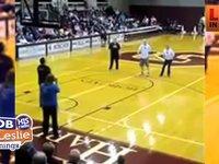 A Blind man Makes a 3 Point Shot