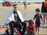 The Surfing Dog Grants a Wish For a Boy with Cancer