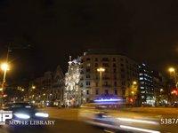 バルセロナ グラシア通りカサバトリョ付近 微速度撮影 スペイン バルセロナ ガウディー建築 カサバトリョ夜景