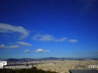 バルセロナ モンジュイック城からの眺め 微速度撮影 スペイン バルセロナ モンジュイック城よりバルセロナの町を望む