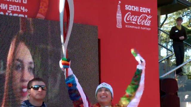 Олимпийский Огонь в Сочи (фрагмент)