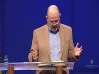 Randy McPherson speaking at Cedarville University