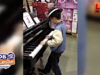 Kids Gives a Recital in Warehouse Store