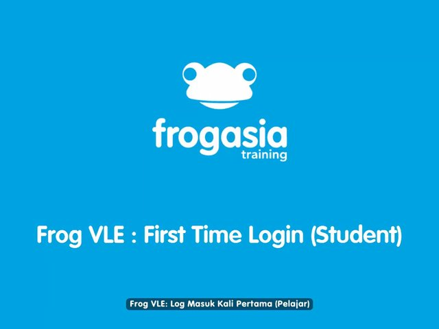 Frog VLE - First Time Login (Student)