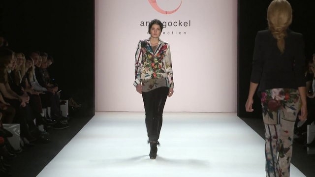 "anja gockel winter 2015 fashion show ""hildegard"" mercedes-benz fashion week berlin"