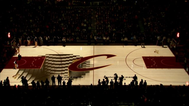 Cleveland Cavaliers PreGame Court Projection on Vimeo