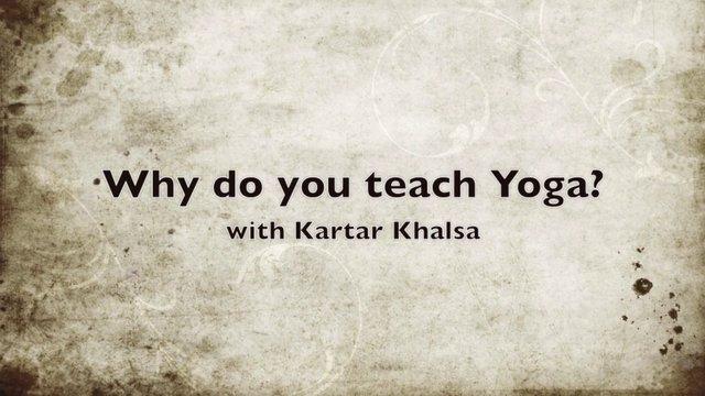 Why I Teach Yoga HD