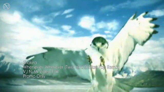 Shakira - Whenever, Wherever (Twist and Shaker Pop Remix) [VJ Ni Mi Video Edit]