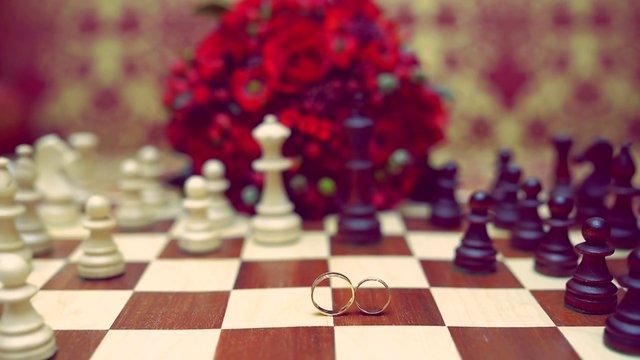Интервью  жениха и невесты в свадебном клипе