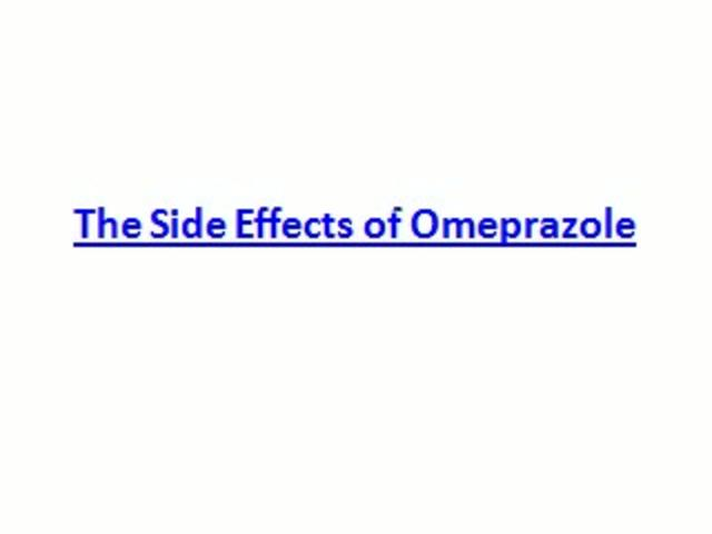 Omeprazole cough side effect