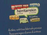 Autobus zerbitzua hobetzeko proiektua ezagutzeko bilerak