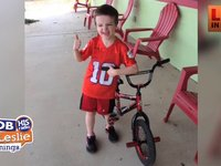 Jim Mann's Son Mason Learns to Ride a Bike