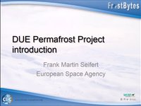 F.M. Seifert: DUE Permafrost project introduction