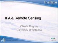 C. Duguay: IPA & Remote sensing