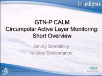 D. Streletskiy: GTN-P CALM Circumpolar Active layer monitoring: Short overview