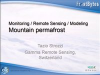T. Strozzi: Monitoring / Remote sensing / Modeling – Mountain permafrost