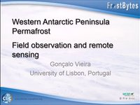 G. Vieira: Western Antarctic Peninsula Permafrost – Field observations and remote sensing