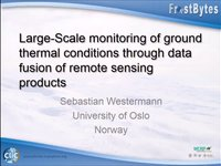 S. Westermann: Large-Scale monitoring of ground thermal conditions through data fusion of remote sensing products