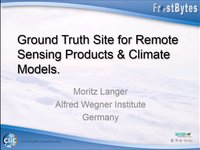 M. Langer: Ground truth site for remote sensing products & climate models.