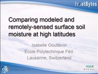 I. Gouttevin: Comparing modeled and remotely-sensed surface soil moisture at high latitudes