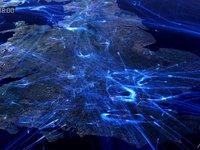 Rutas aereas en Europa simulación del espacio aereo
