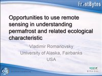 V. Romanovsky: Opportunities to use remote singing in understanding permafrost and related ecological characteristic