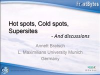 A. Bratsch: Hot spots, cold spots supersites  -  And discussions